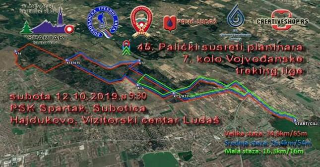 7. kolo Vojvođanske treking lige i 45. Palićki Susreti planinara