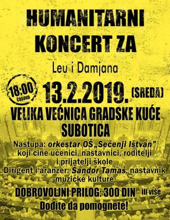 Humanitarni koncert za Leu i Damjana