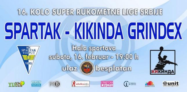 Rukomet: RK Spartak Vojput - RK Kikinda Grindex
