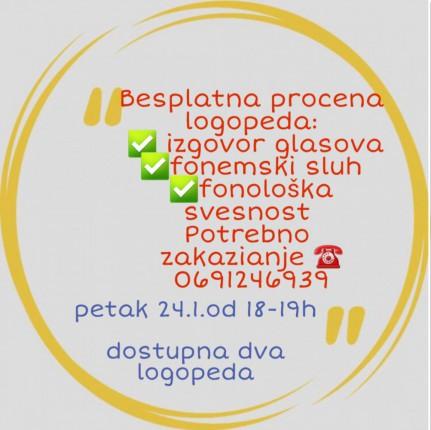 Besplatna procena logopeda za decu