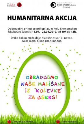"""Humanitarna akcija """"Radost Uskrsa za decu Kolevke"""""""