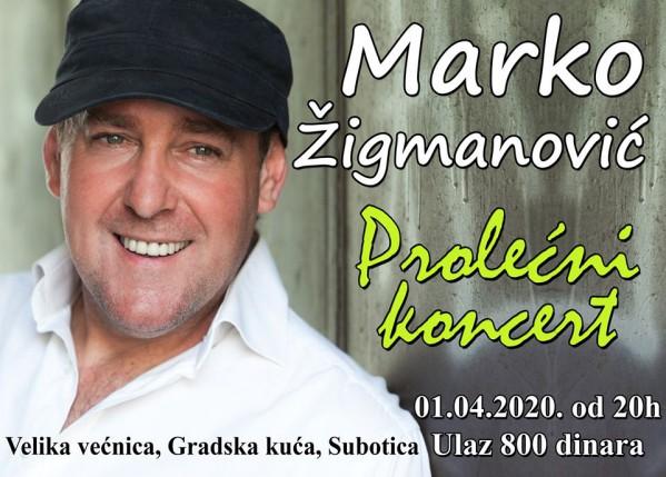 Prolećni koncert: Marko Žigmanović