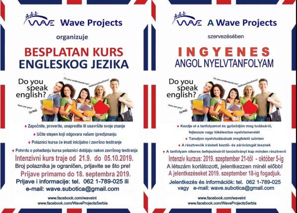 Wave Projects Subotica -  besplatan kurs engleskog jezika