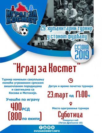 Humanitarni turnir u stonom fudbalu za pomoć deci Kosova i Metohije