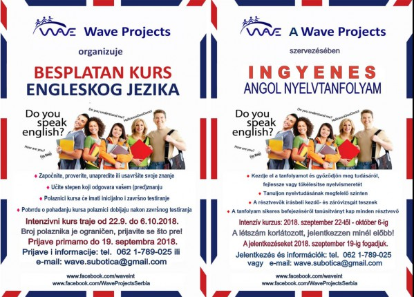 Besplatan intenzivni kurs Engleskog jezika - Wave Projects