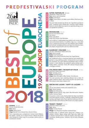 "Predfestivalski program ""Best of Europe"" - Srećan kao Lazaro"