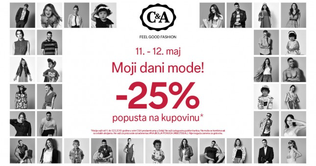 C&A - 25% popusta na kupovinu