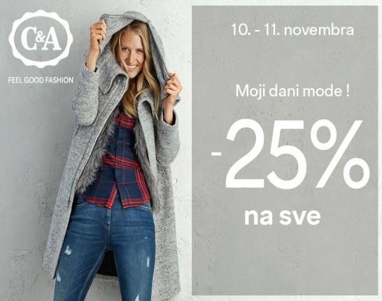 C&A akcija - 25% sniženje
