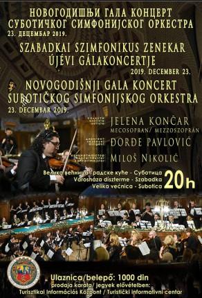 Novogodišnji gala koncert Subotičkog simfonijskog orkestra