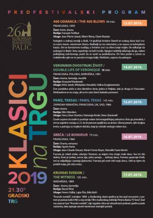 """Predfestivalski program """"Klasici na trgu"""": 400 udaraca"""