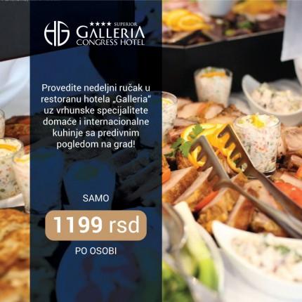 Nedeljni ručak u Hotelu Galleria