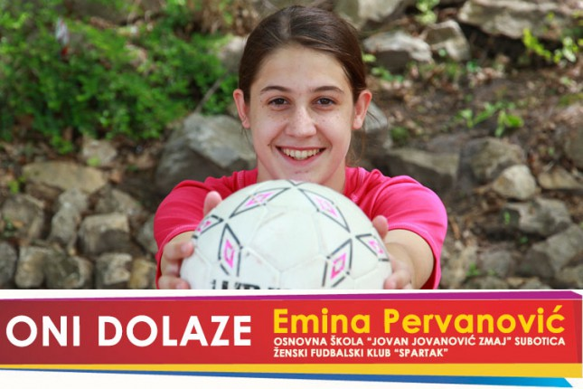 """Oni dolaze: Emina Pervanović, učenica OŠ """"Jovan Jovanović Zmaj"""" i kapiten kadetkinja ŽFK """"Spartak"""""""