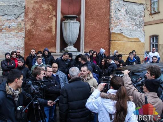 Održan protest subotičkih špeditera