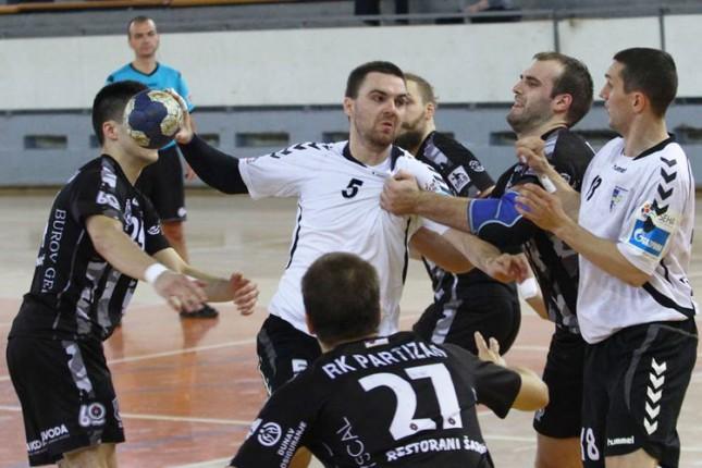 Rukometaši Spartaka poraženi od Partizana u Beogradu (26-24)