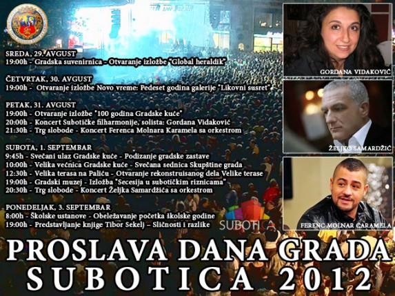 Program proslave Dana grada (koncerti, izložbe, protokol)