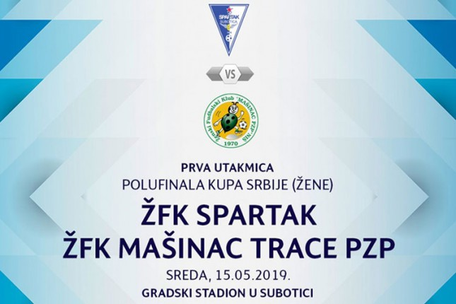 Fudbal (Ž): Spartak od 17 časova igra prvi meč polufinala Kupa Srbije