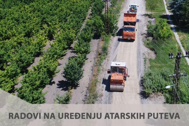 Završni radovi na cementnoj stabilizaciji atarskih puteva