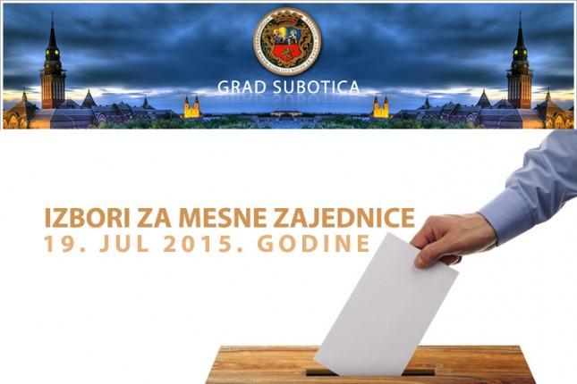 Izbori za mesne zajednice 19. jula