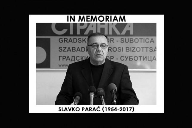 Preminuo Slavko Parać, dugogodišnji funkcioner DS-a