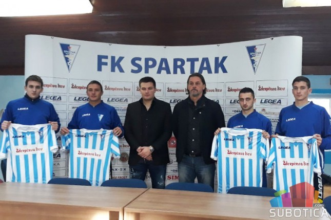 Fudbal: Spartak predstavio nove igrače