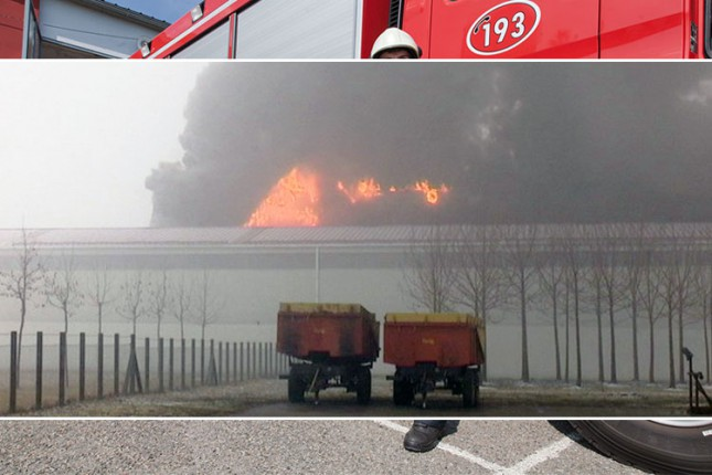 Požar u fabrici stočne hrane u Čantaviru