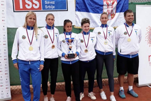 Tenis: Spartakovi juniori i juniorke prvaci Srbije