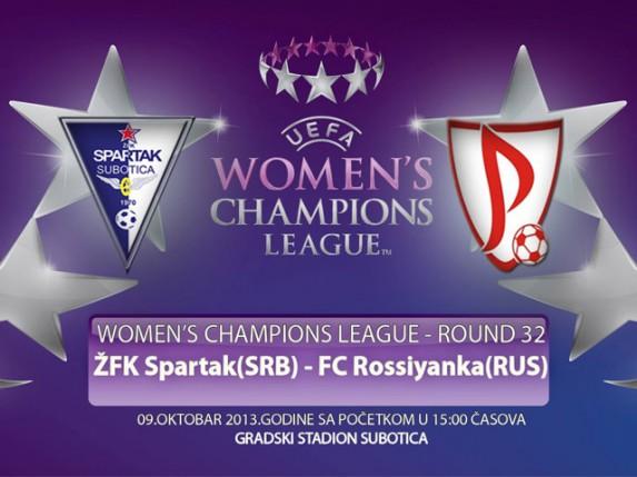 Fudbalerke Spartaka danas od 15 časova na Gradskom stadionu protiv Rosijanke