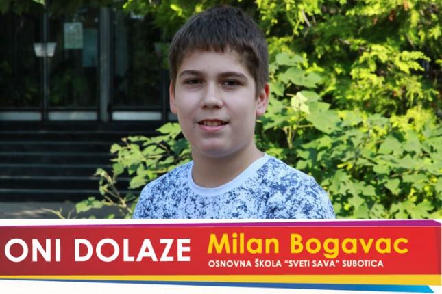"Oni dolaze: Milan Bogavac, učenik OŠ ""Sveti Sava"""