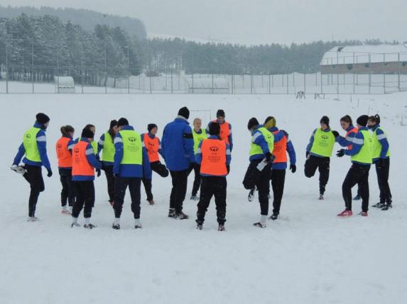 "ŽFK ""Spartak"" na prvom pripremnom treningu na snežnom Zlatiboru"
