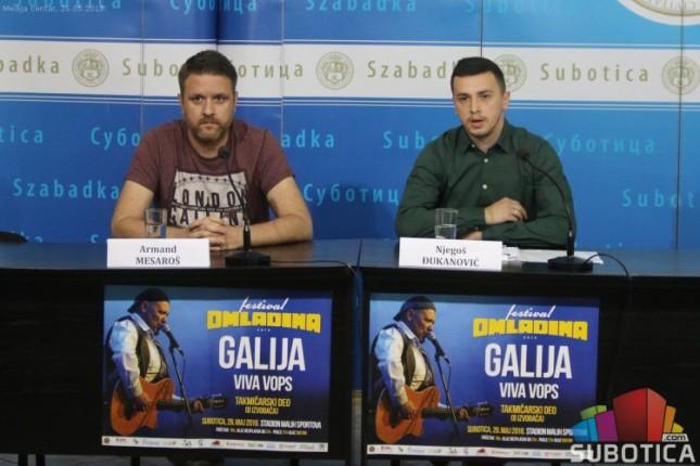 """Festival """"Omladina"""" u subotu na Stadionu malih sportova, grupa """"Galija"""" od 23 časa"""