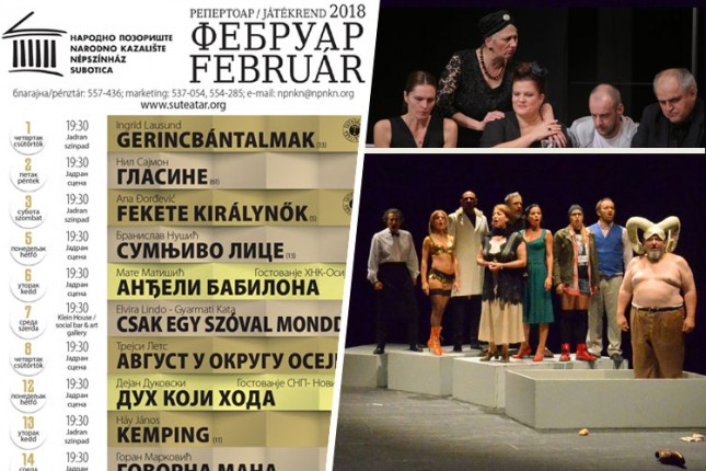 Repertoar Narodnog pozorišta za februar