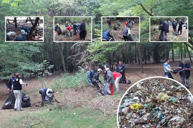 """Održana prva akcija u okviru projekta """"Zaštitimo i očistimo Kelebijsku šumu"""""""