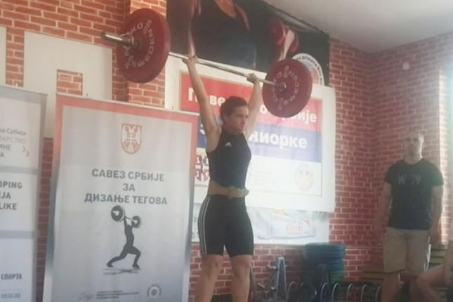 Brigita Lukač zauzela prvo mesto na Prvenstvu Srbije u dizanju tegova