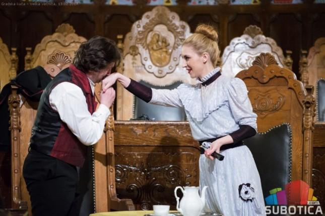 Predstava o ljubavi Laze Kostića i Lenke Dunđerski održana sinoć u Velikoj većnici