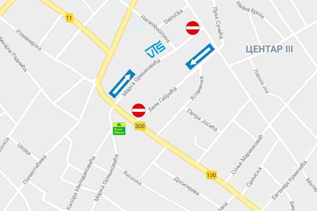 Ulice Bele Gabrića i Marka Oreškovića postaju jednosmerne