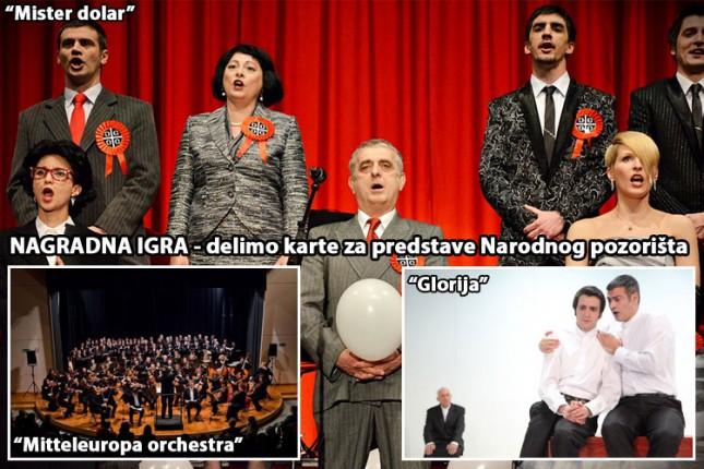 Dobitnici karata za 3 predstave Narodnog pozorišta