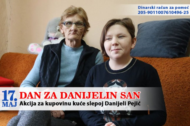 Prikupljeno milion i po dinara za Danijelu Pejić