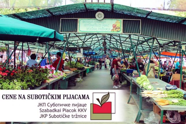 Cene na subotičkim pijacama (28. februar)