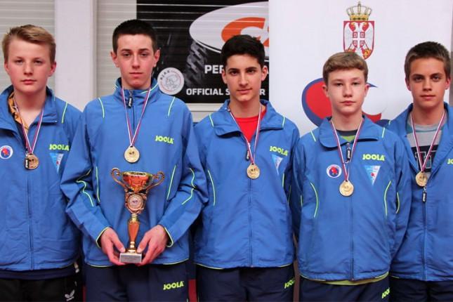 Kadeti Spartaka prvaci Srbije u stonom tenisu