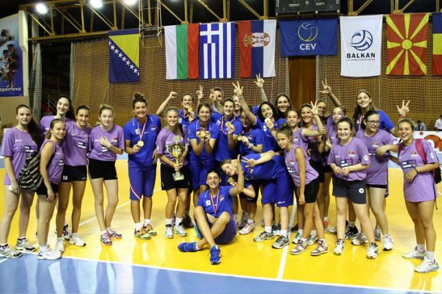 Odbojkašice Srbije juniorske prvakinje Balkana za 2014. godinu