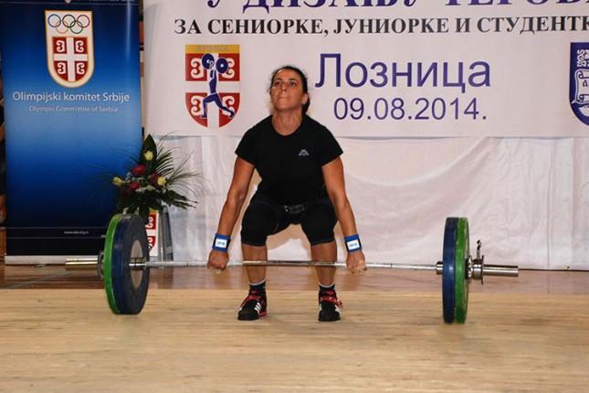 Srebrna medalja za Brigitu Lukač na Prvenstvu Srbije u dizanju tegova