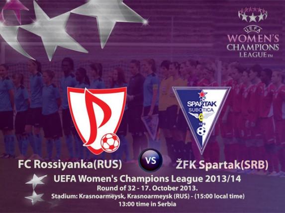 Uživo: Spartak - Rossiyanka (revanš utakmica Lige šampiona za žene)