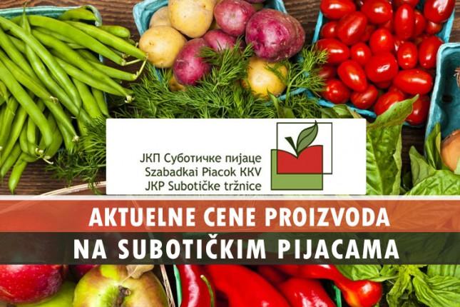 Cene na subotičkim pijacama (22. jun)