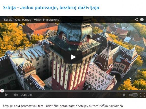 Gradska kuća i Palić u okviru promotivnog filma Turističke organizacije Srbije
