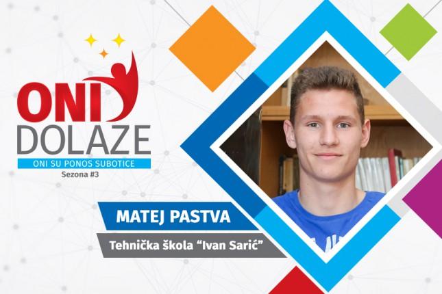 """Oni dolaze: Matej Pastva, učenik Tehničke škole """"Ivan Sarić"""" i kadet FK """"Spartak"""""""