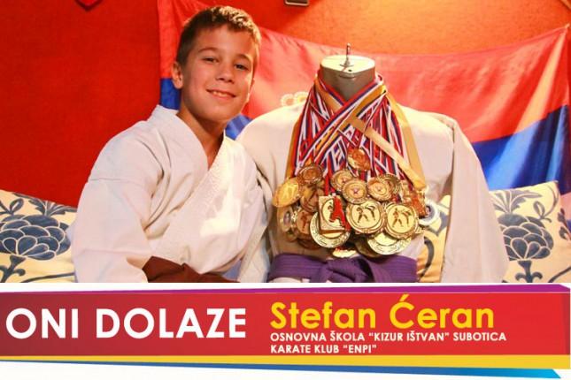 "Oni dolaze: Stefan Ćeran, učenik OŠ ""Kizur Ištvan"" i član Karate kluba ""Enpi"""