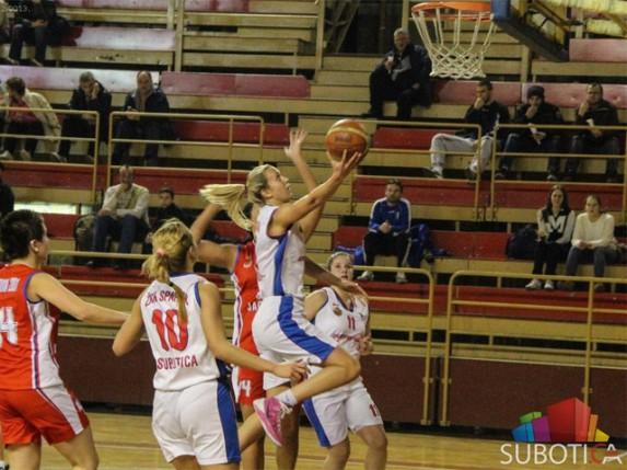 Košarkašice Spartaka poražene i od najslabije ekipe u Prvoj ligi