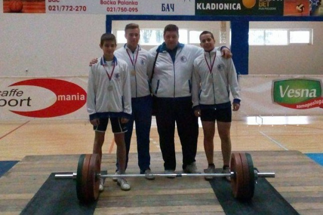Tri medalje dizača tegova Spartaka na Prvenstvu Vojvodine (U23)