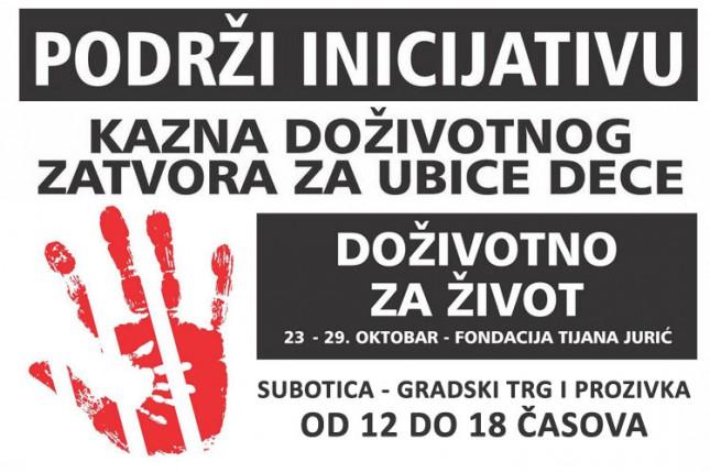 """Fondacija """"Tijana Jurić"""" prikuplja potpise za uvođenje kazne doživotnog zatvora za ubice dece"""