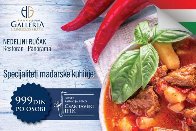 """Mađarski specijaliteti na nedeljnom ručku u restoranu """"Panorama"""""""